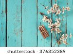 image of spring white cherry... | Shutterstock . vector #376352389