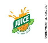 logo of fresh juice | Shutterstock .eps vector #376352857