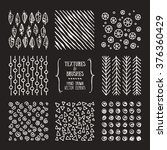 hand drawn textures and brushes.... | Shutterstock .eps vector #376360429