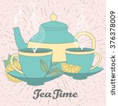 tea time vector illustration of ... | Shutterstock .eps vector #376378009