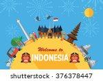 flat design  indonesia icons...