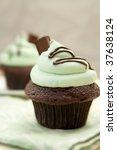 Creme De Mint Cupcake  Shallow...