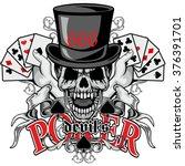 grunge skull coat of arms | Shutterstock .eps vector #376391701