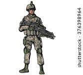 american soldier | Shutterstock .eps vector #376398964