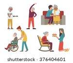 flat character design of... | Shutterstock .eps vector #376404601