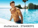 photo of handsome smiling man... | Shutterstock . vector #376408591
