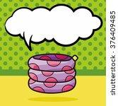 lifebuoy color doodle  speech... | Shutterstock .eps vector #376409485