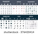 set of ready made simple vector ... | Shutterstock .eps vector #376420414