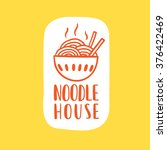noodle cafe logotype. vector... | Shutterstock .eps vector #376422469