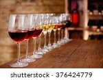 Many Glasses Different Wine A - Fine Art prints