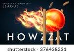 creative fiery ball hit the... | Shutterstock .eps vector #376438231