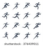 running man and woman icons for ... | Shutterstock .eps vector #376439011