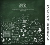 set of various creative... | Shutterstock .eps vector #376439725