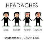 kind of headaches by... | Shutterstock .eps vector #376441201