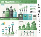 ecology infographics. vector... | Shutterstock .eps vector #376441795