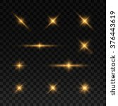 glowing lights and stars.... | Shutterstock .eps vector #376443619