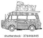 hand drawn doodle outline retro ...   Shutterstock .eps vector #376446445