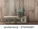 storage box with home letters... | Shutterstock . vector #376446487