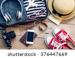 clothing traveler's passport ... | Shutterstock . vector #376447669