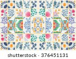 tiled background with oriental... | Shutterstock . vector #376451131