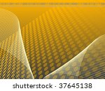 grey  gold and yellow binary... | Shutterstock .eps vector #37645138