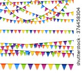 colored garlands background...   Shutterstock .eps vector #376458304