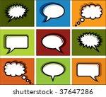 colored speech bubbles in pop... | Shutterstock .eps vector #37647286