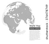 dotted world map background.... | Shutterstock .eps vector #376478749