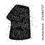 black and white doodle... | Shutterstock .eps vector #376484737