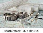 roller bearing  vernier... | Shutterstock . vector #376484815