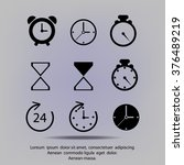 time and clock icons. vector... | Shutterstock .eps vector #376489219