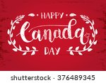 happy canada day hand drawn... | Shutterstock .eps vector #376489345