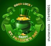 saint patricks day emblem... | Shutterstock .eps vector #376498801