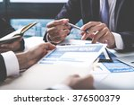 group of business people busy... | Shutterstock . vector #376500379