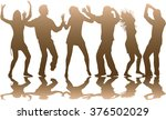 dancing people silhouettes. | Shutterstock .eps vector #376502029