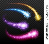 light effect colorful falling... | Shutterstock .eps vector #376507441