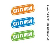 get it now sticker labels | Shutterstock .eps vector #376507945