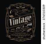 antique label western hand... | Shutterstock .eps vector #376510309