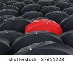 red umbrella | Shutterstock . vector #37651228