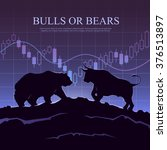 stock exchange trading banner.... | Shutterstock .eps vector #376513897