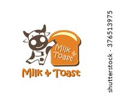 milk   bread logo  cow   toast  | Shutterstock .eps vector #376513975
