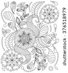 hand drawn henna abstract... | Shutterstock .eps vector #376518979