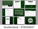 set of 9 vector templates for... | Shutterstock .eps vector #376524037