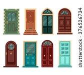 set of vintage doors. vector... | Shutterstock .eps vector #376526734