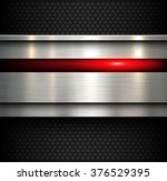 background  polished metal... | Shutterstock .eps vector #376529395