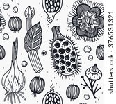 vector seamless pattern with... | Shutterstock .eps vector #376531321