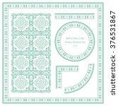 vintage frame pattern set 155... | Shutterstock .eps vector #376531867