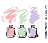 nail polish colorful  jars ... | Shutterstock .eps vector #376539697