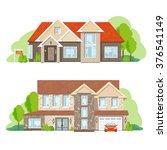 flat private residential... | Shutterstock .eps vector #376541149