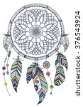 dream catcher  vector... | Shutterstock .eps vector #376543924